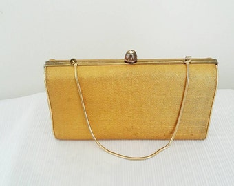 Vintage Ingber Gorgeous Gold Boxed Clutch