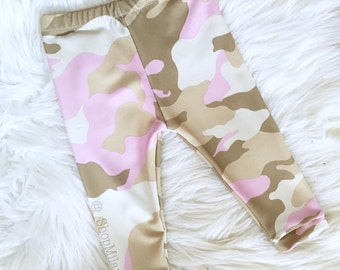 PINK Camoflauge baby/toddler Leggings