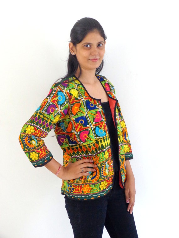 Indian tribal kutch embroidered jacket bohemian by