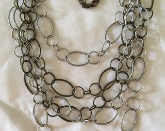 Vintage Multi Chain Necklace