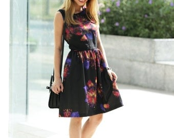 SALE! Water Color Flower Print Dress (dress3)