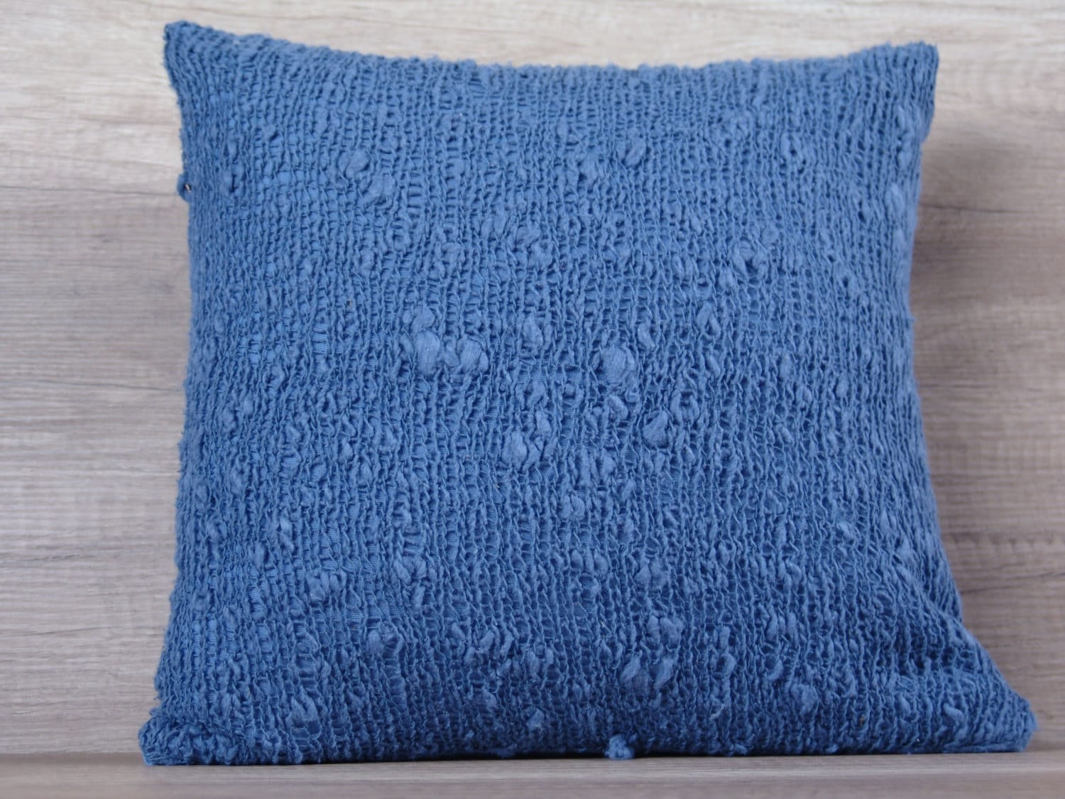 Decorative Pillows In Navy Blue : Navy blue knit decorative pillow case knitted euro pillow