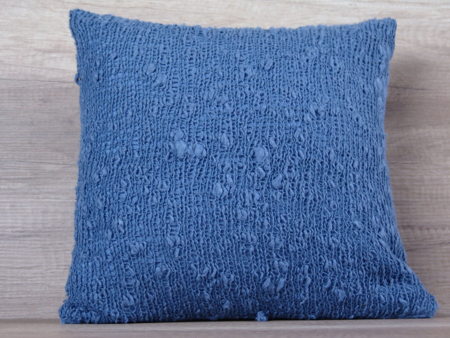 Decorative Pillows Navy : Navy blue knit decorative pillow case knitted euro pillow