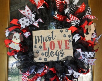 Dog Wreath, Dog Lover's Wreath, Pet Lover's Wreath, Animal Lover's Wreath, Pet Wreath, Animal Wreath