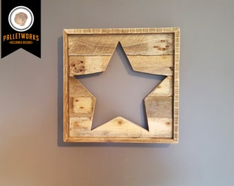Pallet Star // Wall Hanging // Reclaimed, Recyled, Upcycled, FREE P+P