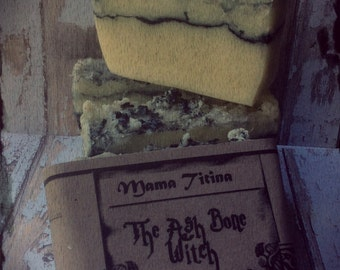The Ash Bone Witch - Artisan Soap - Cold Process Soap- Natural
