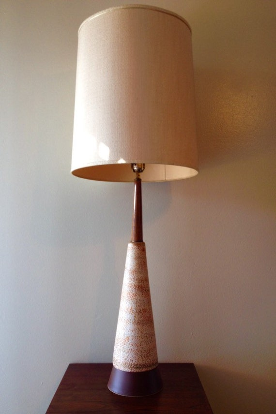 mid century modern large table lamp. Black Bedroom Furniture Sets. Home Design Ideas
