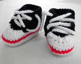 Crochet High Top Baby Booties! All Stars!