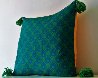 Cushion cover - Green and yellow
