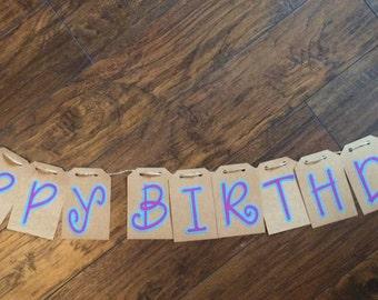 Happy Birthday Banner - Font 3
