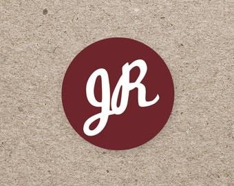 Sticker wedding - the label