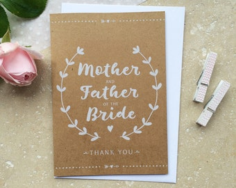 Rustic Mother & Father of the Bride Thank You Card