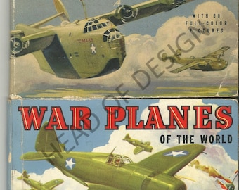 Vintage airplane books - Airplanes of the USA and War Planes of the World