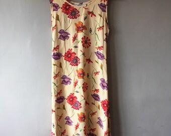 Vintage 90s gilgham floral grunge dress- size 12
