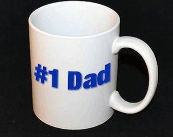 Mug - Number 1 Dad // Gifts for Him // Father's Day