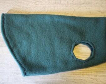 Sphynx cat body sweater fleece dark green