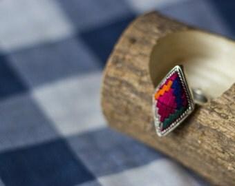 Unique Miao's Embroidery  Ring