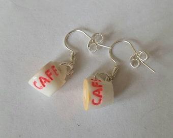 Mini coffee cup earrings