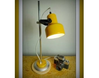 Yellow Retro Desk Lamp 70s
