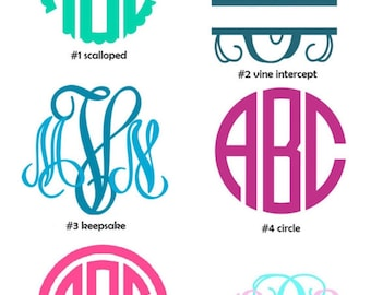 3in Monogram | Any Style | Any Color | Flat Rate Shipping