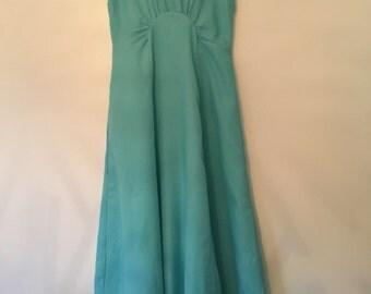 Aqua handmade 1960's maxi dress