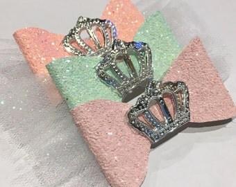 Princess crown bows