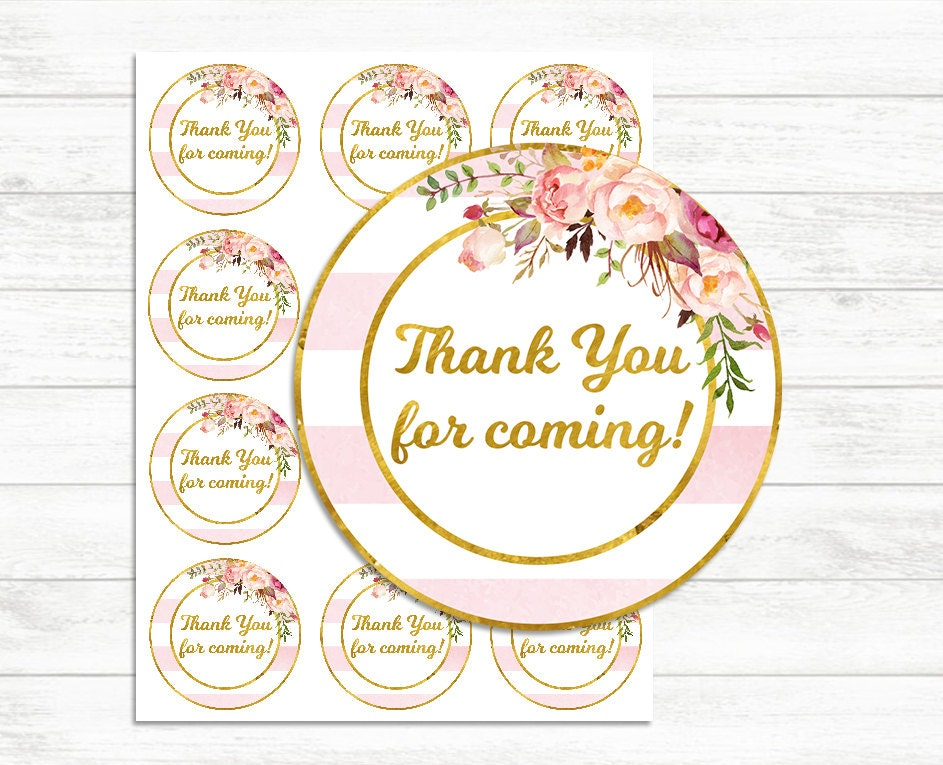Juicy image throughout printable thank you labels