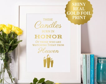 This Candle Burns Sign These Candle Burn Wedding Remembrance Sign Wedding Memorial Sign