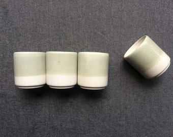 Pebble grey shot glasses, set of 4