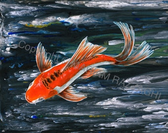 Butterfly koi etsy for Carpe koi rare