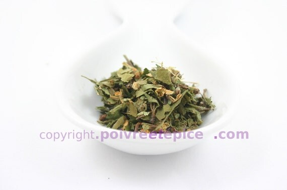 flocon d'AUBÉPINE - HAWTHORN flower and leaf