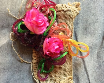 Rose and vine hair piece/clip