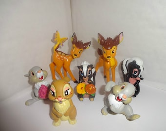 Mister A Gift set of 7 Bambi Plastic Cake toppers