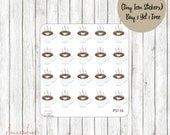Buy 3 Get 1 Free - 20 Coffee Tiny Icon Mini Sticker Sheet Planner Stickers//Erin Condren//Personal Planner//ECLP//Happy Planner/Scrapbooking