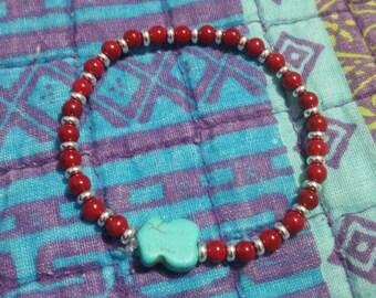 Bracelet with turquoise Tous Teddy bear