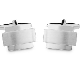 Cufflinks with Square and a Rectangle on Top