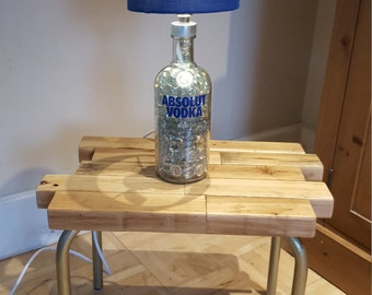 Upcycled Vodka Bottle Lamp