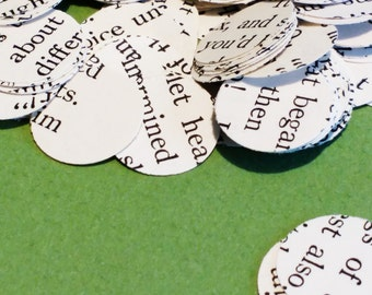 Book Paper Confetti 500 Half Inch Rounds Wedding and Party