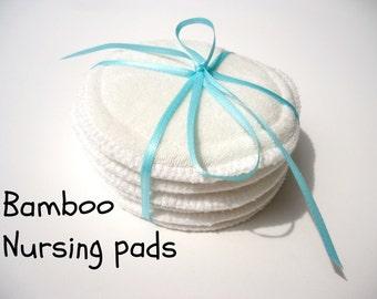 Bamboo nursing pads- Reusable Nursing pads set of 6 - Bamboo breast pads-Breastfeeding pads-Nursing inserts