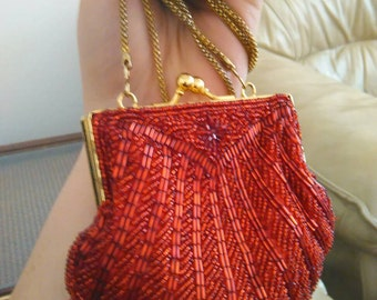 Vintage red coin purse