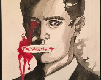 Fire Walk With Me - Watercolor