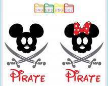 Mickey Mouse Disney Pirate SVG Files , Svg Dxf Png Eps, Cutting File, Studio Cut Files,Silhouette Studio, Cutting Machines, Cricut Cameo