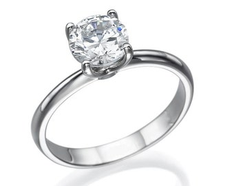 Solitaire engagement ring for a taste of your love, cute ring.