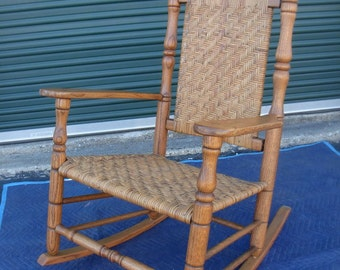 Rare Greg Harkins Plantation Rocker - Signed & Numbered - Hand Made Oak Rocking Chair