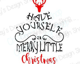 Merry Christmas SVG file / Christmas SVG / Christmas cut file / Christmas clip art / Reindeer svg / reindeer cut file / vinyl crafts