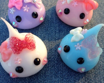 Kawaii silicone charms for necklaces/  bracelets