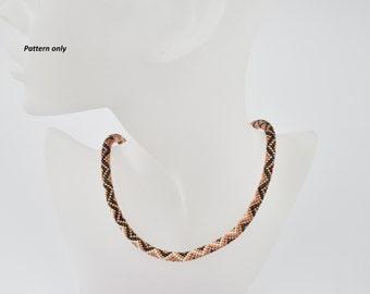 Bead Crochet Rope Pattern - zigzag - tutorial