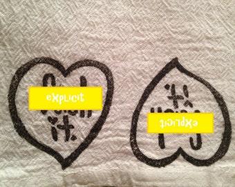 Explicit- Heart- Tea Towel- Kitchen- 100% Cotton