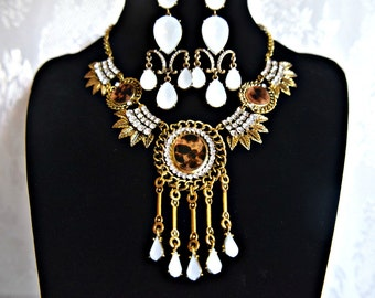 Ensemble COLLIER ART DECO, Gatsby le magnifique collier ensemble, des années 1920 des années