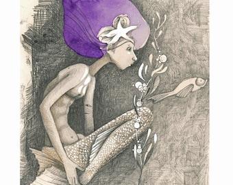 Mermaid, original drawing.
